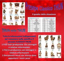 THUN Storico Scheda Tabella Catalogo Presepe CLASSICO Fuori e in produzione TOP