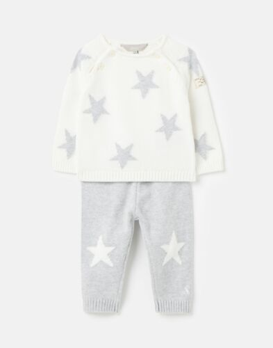 Cream Grey Joules Baby Girls 212934 Knitted Set