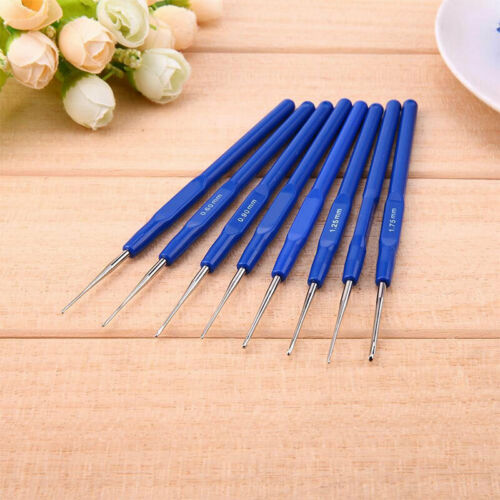 8 unids//lote pequeños ganchos de ganchillo agujas puntadas de tejer para coser