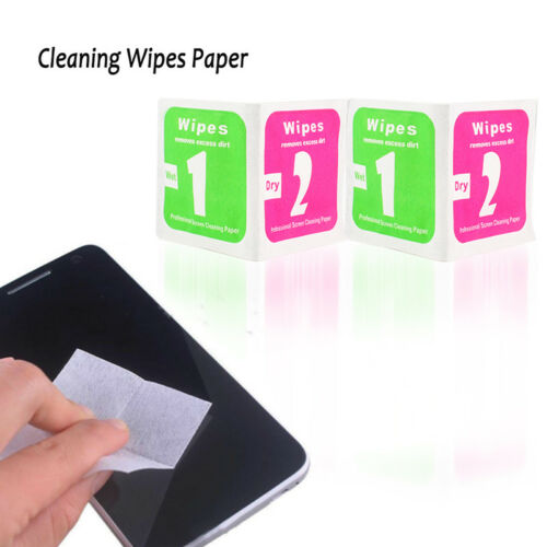Pantalla LCD para Teléfono 50//Set herramienta de eliminación de polvo Limpieza en Seco Húmedo Toallitas Papel moderno DT
