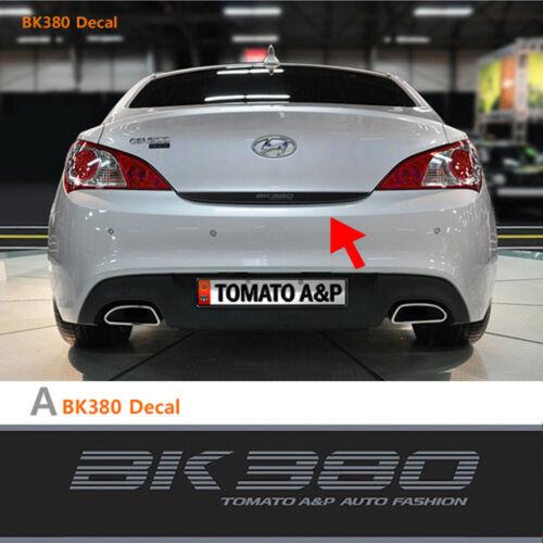 Rear Trunk Tuning Decal BK380 Matt Type For 2008 2011 Hyundai Genesis Coupe