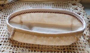 Longaberger-Small-Loaf-Fabric-Basket-Liner-Flax-with-braided-trim