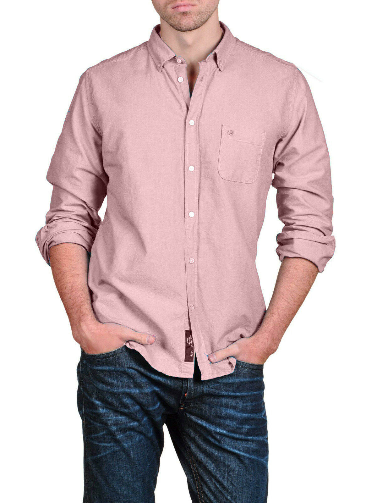Authentic rare DIESEL Men's Shank-R Light Pink Dress Casual Shirt M