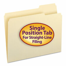 Smead File Folders 13 Cut Third Position One Ply Top Tab Letter Manila 100box