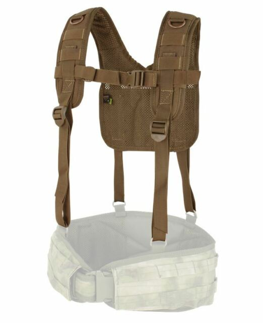 CONDOR MOLLE Modular Nylon 215  H-Harness Suspenders for Battle Belt BROWN