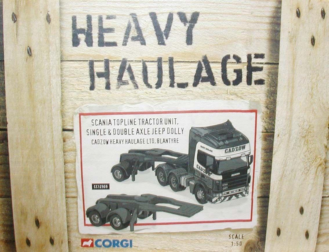 CORGI Heavy Haulage SCANIA TOPLINE + Dolly cadzow CC12909