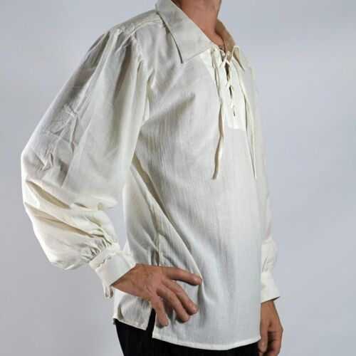 Herren mittelalterlich Piraten Hemd Halloween Kostüm Gothisch Renaissance