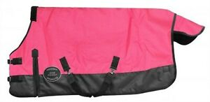 Showman-PINK-PONY-amp-YEARLING-Size-48-034-54-034-Waterproof-Breathable-Turnout-Blanket