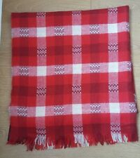 ZARA LARGE RED/WHITE/ECRU CHECK PRINT SCARF SHAWL NEW WITH TAG