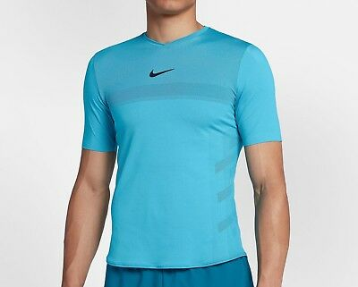 Activewear Tops Amicable Nike-court-aeroreact-rafa-crew-lagoon-pulse-blue-s-new-w-tag Activewear
