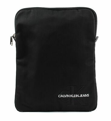 Calvin Klein Monogram Nylon Flatpack Black