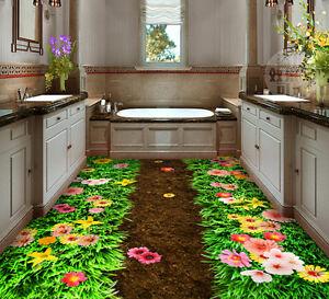 3d Joli Fleur Fond D'écran étage Peint En Autocollant Murale Plafond Chambre Art Design Professionnel