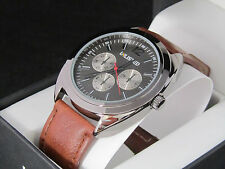 Unlisted Kenneth Cole Men's Analog Brown Leather Band Watch UL 6722
