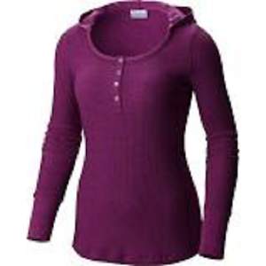 NEW Columbia Women/'s Weekday Waffle Henley Long Sleeve Shirt Sz Small $60 Retail