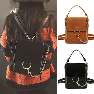 Women-s-Small-Faux-Leather-Convertible-Backpack-Rucksack-Shoulder-bag-Cute-Purse
