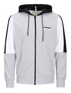 JACK /& JONES Zip Up Mens Sporty Gym Overhead Hoodie Casual Hooded Sweatshirt Top