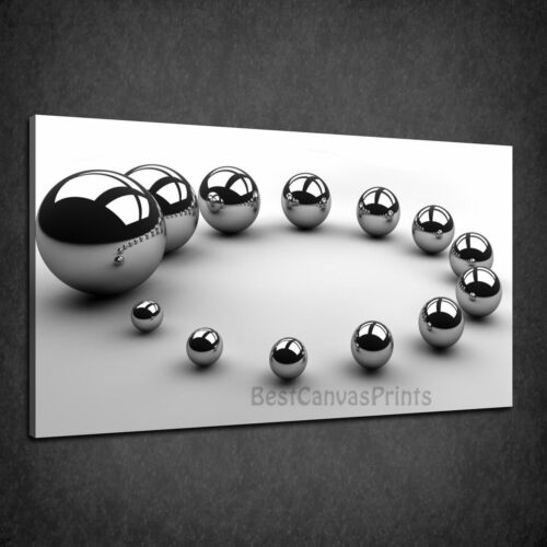 METAL SHINY BALLS THE CIRCLE OF GROWTH BOX CANVAS PRINT WALL ART PICTURE