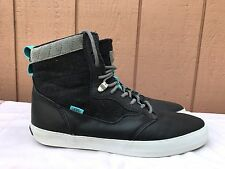 64ed80a461 EUC Vans OTW Mens Lynwood Wool Leather Black White Skate Shoes US 12  VN-0UAUAKU