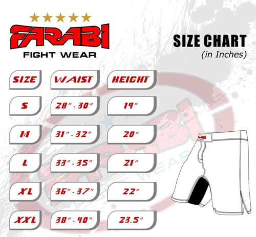MMA Shorts Cage Fight Grappling Kick Boxing Muay Thai Training Wear