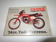 DERBI 74 TERENO ALL USED CATALOG (box P-3)