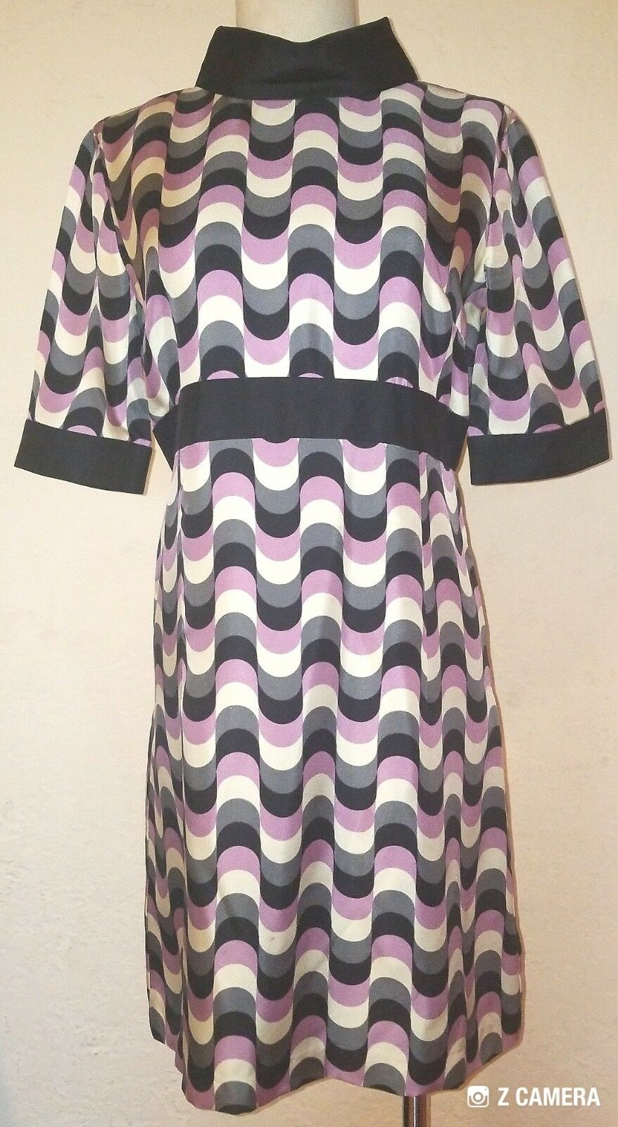 Vintage Milly Multicolord Short Sleeve Dress Size 6