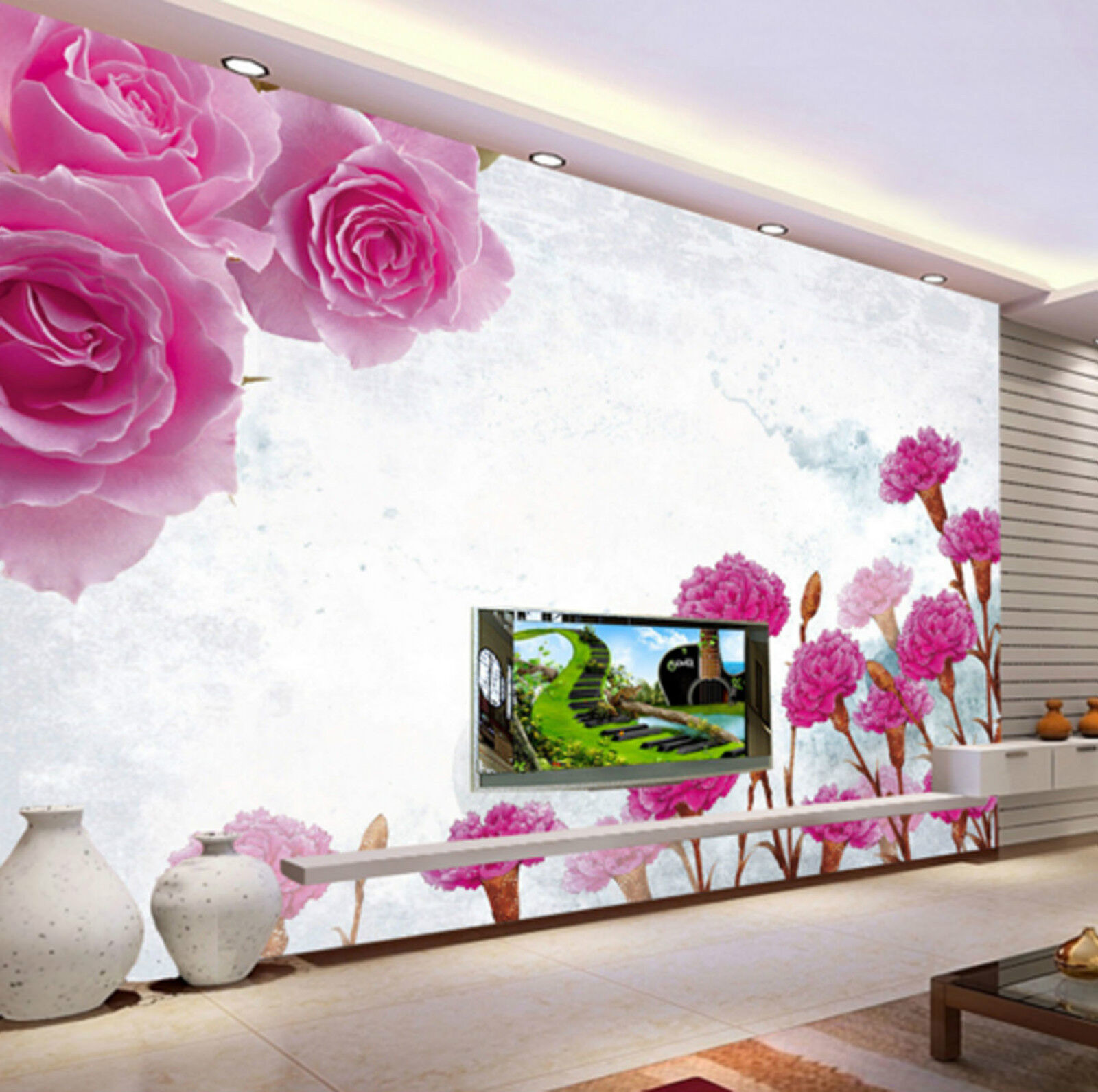 3D Brocade Flower Plants 546 Wall Paper Wall Print Decal Wall AJ WALLPAPER CA