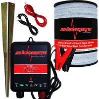 Electric Fence Energiser Srb06 12 Volt 0.6j 200m X 20mm Poly Tape Horse Pony