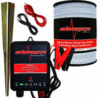 Electric Fence Energiser Srb06 12 Volt 0.6j 200m X 20mm Poly Tape Horse Pony