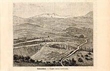 Stampa antica CALATAFIMI battaglia di Garibaldi Trapani Sicilia 1891 Old print