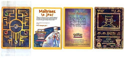 PROMO POKEMON ANCIENT ANTIQUE MEW BRILLANT Scellé