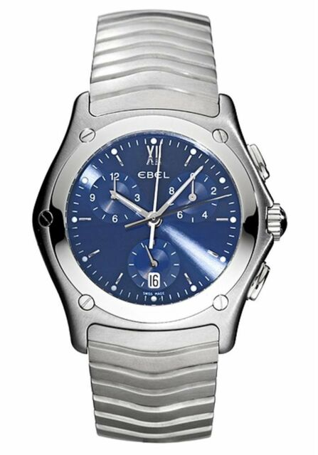 EBEL Classic Wave Chronograph Gents Watch 9251F41-3325 - RRP £1995 - BRAND NEW