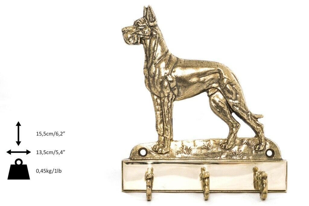 Great Dane - brass hanger with image of a dog, high quality, Art Dog