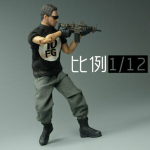 1:12 Casual Overalls Pants Clothes F 6inch Male Action Figure Soldier Body Toys