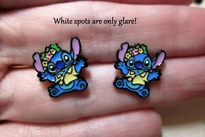 Stitch-Earrings-Floral-Hypoallergenic-Stud