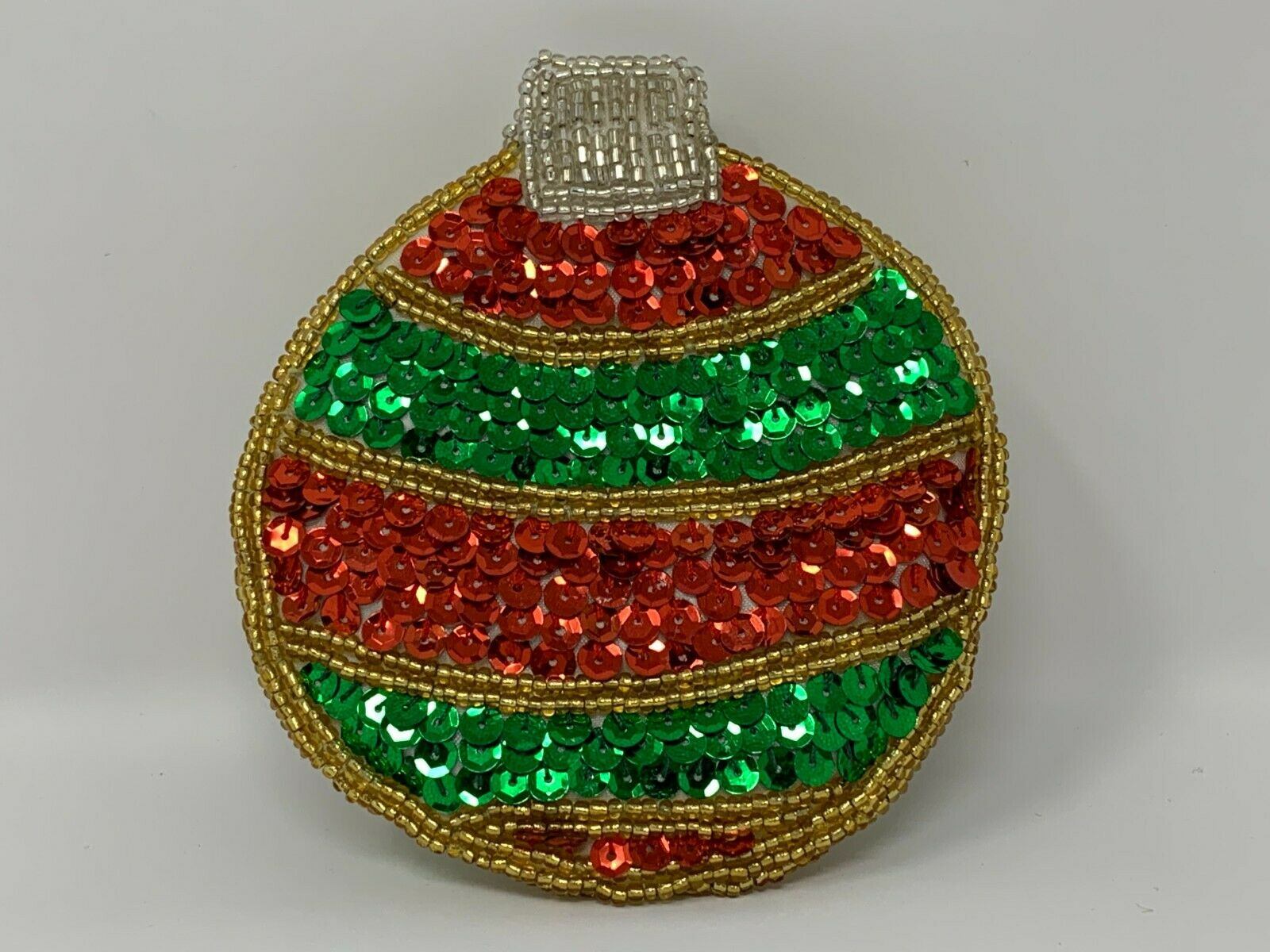 Lee Sands Sequins & Beaded Christmas Ornament Coin Purse #8