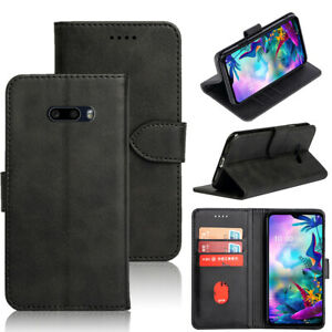 Pour-LG-G8X-V50S-ThinQ-5-g-Shockproof-PU-Cuir-Portefeuille-Carte-Flip-Stand-Case-Cover