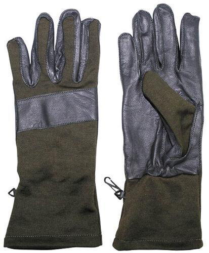 MFH esercito tedesco guanti lunghi Guanti Pelle Guanto Dito S-XXL