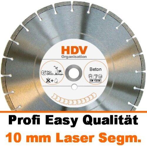 600 x 25,4 mm Diamanttrennscheibe BETON LASER 10 mm Profi Easy Diamantscheibe