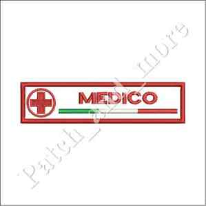 Patch-MEDICO-CRI-CROCE-ROSSA-ITALIANA-cm-12x3-toppa-VEL-CRO-ricamo-1184