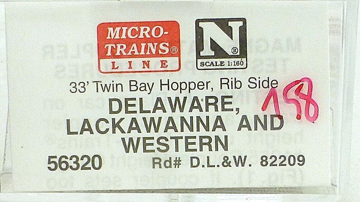 Micro Trains Line 56320 Delaware 82209 33' Twin Bay Hopper 1 160 OVP  i158 å