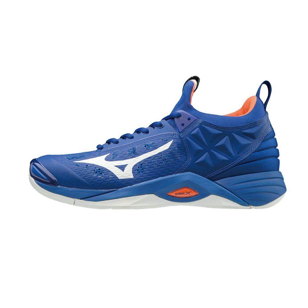 Mizuno Wave Momentum bluee orange Men Women Volleyball shoes V1GA191200