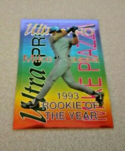 Details About 1994 Ultra Pro 1993 Rookie Of The Year 6 Mike Piazza Los Angeles Dodgers