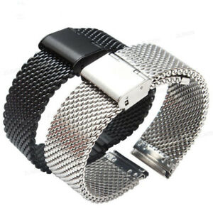 Mesh-Stainless-Steel-Bracelet-Wrist-Strap-20-22mm-Milanese-Watch-Band-Link