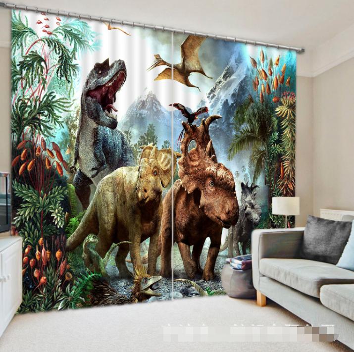 3d 480 dinosauri blocco foto sipario pressione sipario tende tessuto finestra de
