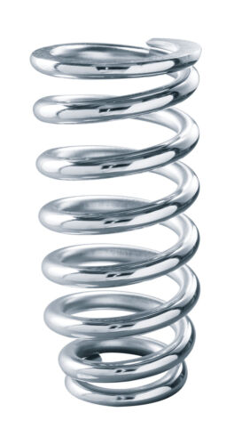 QA1 8MB600 Spring Chrome Silicon 3-1//2 Id 8-600 Lbs Chrome Plated 1St Coil Taper