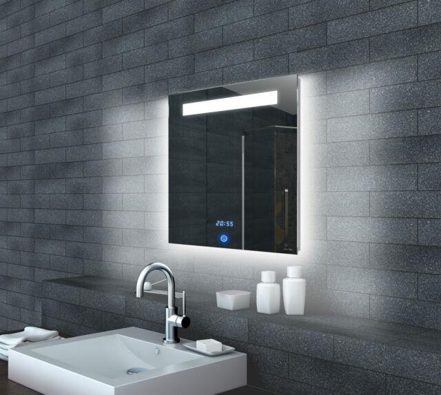 Led Beleuchtung Bad Spiegel Wandspiegel Badezimmerspiegel Uhr