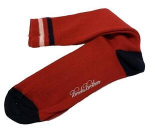 NEW, BROOKS BROTHERS MEN'S MERINO WOOL RED CREW SOCKS, $34