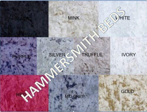 NEW-White-Crushed-Velvet-Upholstered-Diamond-bed-frame-3FT-4ft6-5FT-SALE