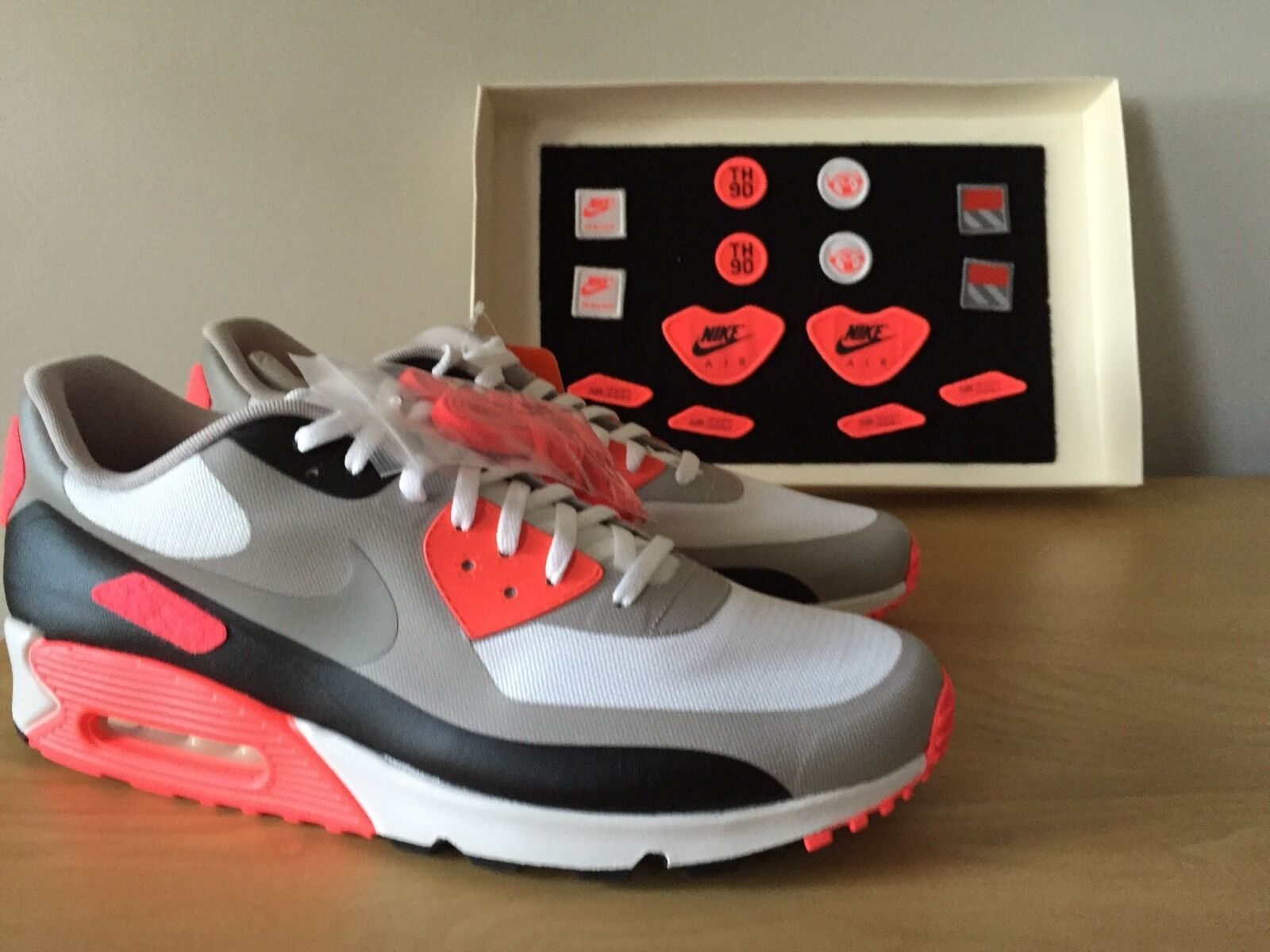 Nike Air Max 90 Patch Infrared SP SIZE 14 New 95 97 OG Neon Silver