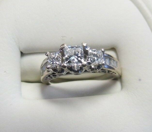 LADIES 14K WHITE gold DIAMOND RING 3 4CT T.W. SIZE 5.5